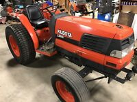 Kubota L3600 4wd 4x4 Tractor Compact 38 HP Diesel GST Glide Shift Transmission