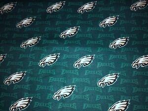 NEW NFL PHILADELPHIA EAGLES COTTON Fabric 1/4yard=9inX44in GO EAGLES DIY MASK