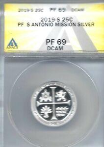 2019-S San Francisco Silver Proof San Antonio Mission Quarter PF 69