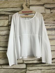 cocon.commerz PRIVATSACHEN  Bluse aus Baumwollbatist in weiß Größe 2 - Muster
