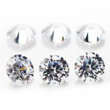 Wholesale Round Loose Artificial Diamond Zircon Crystal DIY Jewelry Making Lot
