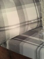 Silentnight 100% Brushed Cotton Winter Warm Grey Check Double Sheet Set New
