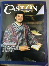 Cast On Knitting Patterns Winter 1992 for Men and Little Ones Vintage 338