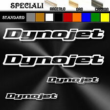 set adesivi sticker DYNOJET tuning prespaziato, auto decal moto,casco 19,5 cm