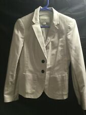 BANANA REPUBLIC Women's Size 6 Beige  Suit Blazer Jacket, Stretch