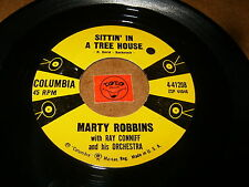 MARTY ROBBINS - SITTIN IN A TREE HOUSE - SHE WAS ONLY  / LISTEN / ROCK POPCORN