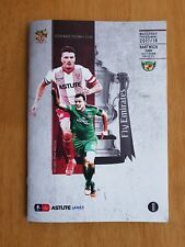 2017/18 STEVENAGE v NANTWICH TOWN  -  F A CUP  -  NEW & UNOPENED