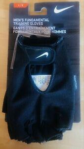 Nike Men's Fundamental Training Gloves Black LG NWT