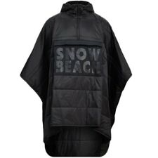 New Polo Ralph Lauren The Snow Beach Poncho Black & White Collection - One Size