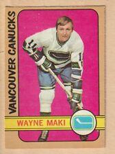 HOCKEY CARD NHL 1972-73  WAYNE MAKI  VANCOUVER CANUCKS  OPC  #84