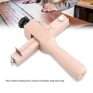 Adjustable Leather Strap Cutter Tools Hand Craft Strip DIY Cutting Steel Blades