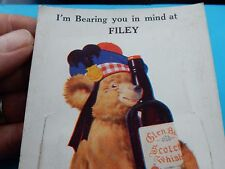 LAWSON  WOOD  TEDDY BEAR WITH WHISKY  FOLD OUT  VIEWS FILEY