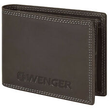 Wenger Coin Portemonnaie Money Wallet Purse Leather 12,5 cm (brown)