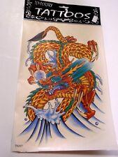 11 x 7 Inch Dragon Large Temporary Tattoos Kit Costume Accessory Halloween