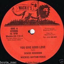 "DENISE ROBINSON-you give good love   wackies 7""    (hear)   reggae"