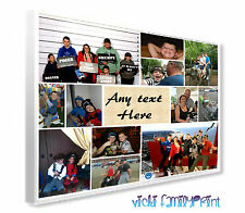 "20""X24"" PHOTO COLLAGE CANVAS PERSONALISED FAMILY GIFT BIRTHDAY ANY MESSAGE"