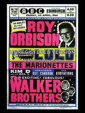 "Roy Orbison / Walker Brothers Edinburgh 16"" x 12"" Photo Repro Concert Poster"