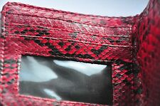 Genuine Python Snake Skin Leather Wallet Cash Money Clip Card Holder Men Gift