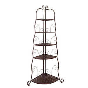 5 Tier Storage Rack Organizer Corner Shelf Washroom Bathroom Toilet