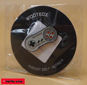 Wootbox Exclusive PIN - SNES JOYPAD - RETRO II - August 2017 - NEU+OVP