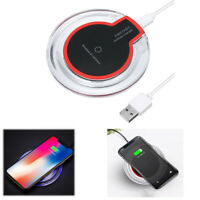 Upgrade Qi Round Wireless Charging Pad For Samsung/iPhone X/XS/Max/XR/8/Plus