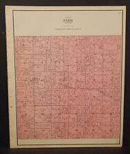 Wisconsin Kenosha County Map Paris Township 1924 L19#98