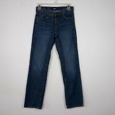 Boys Old Navy Blue Jeans Size 14 Slim Adjustable Waist Medium Wash Denim