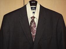 Ralph Lauren 46L 100% Wool Gray Granite Stripe Blazer + RL Tie