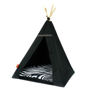 Glamour Teepee dog bed - Zebra, dog bed with pillow luxury dog house dog tent