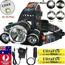 Rechargeable 350000LM T6 LED Headlamp Headlight Flashlight Head Torch Camping