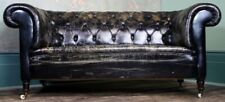 More details for antique edwardian leather sofa