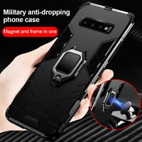 Hybrid Armor Case Shockproof Cover Ring Stand Holder For Samsung S10 S20 A21S