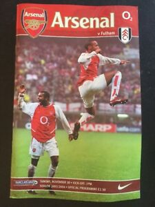 "Arsenal ""49 Unbeaten"" Home V Fulham 30/11/2003 Game 16 Invincibles"