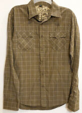 Vercho Clothing Company Olive Green Plaid w/Eagle Western Button-Front Shirt S