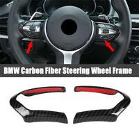 For BMW 1 2 3 4 5 Series Carbon Fiber Steering Wheel Frame Decoration Cover Trim
