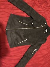 Sixth June Men's Faux Shearling Biker Jacket M Sz L