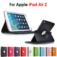 iPad Air 2 iPad 6 Case for Apple 360° Rotate PU Leather Cover stand