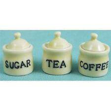 Tea Coffee & Sugar Set 1:12 Scale for Dolls House D2208