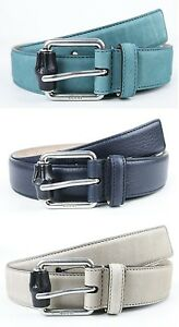 New Authentic GUCCI Mens Leather/Suede Belt with Bamboo Buckle 336827