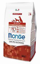 Monge PUPPY & JUNIOR crocchette cane cucciolo gr.800 AGNELLO Riso Hypoallergenic