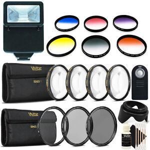 52mm Color Filter Kit with Top Lens Accessory Kit for Nikon DSLR Cameras