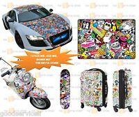 Car Cartoon Skate Skateboard Laptop Luggage Sticker Bomb Decal Vinyl Roll 100Pcs
