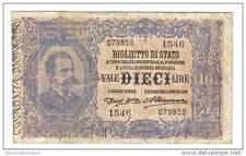 10 LIRE VITTORIO EMANUELE III° SERIE 1546 R3 DELL´ARA ALTAMURA 22 01 1911 1312
