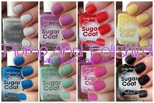 Sally Hansen Sugar Shimmer Textured Nail Color Pink Blue Green Mint Cinny Nails