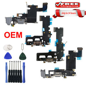 OEM SPEC Charging Port Charger Dock Mic Flex For iPhone 6 6S 7 8 X + Plus Black