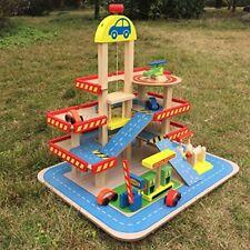 4 Level Garage Playset Car Station City Parking Gas Station Helicopter Kids Toys