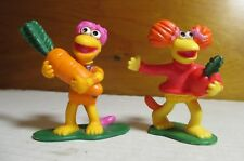 "1988 Fraggle Rock 2.5"" Red Gobo Raddish Carrot Pvc Figure Jim Henson Applause"