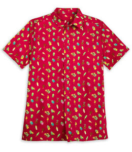 Disney Parks Aloha Polynesian Snacks & Treats Button Down Shirt Mens Medium NWT
