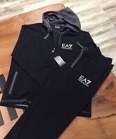 EMPORIO ARMANI Brand New Mens Navy & black Tracksuit Zip Up Jacket & Pants