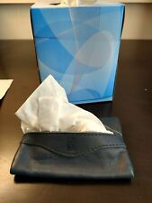 Vintage Stylish Dark Blue Leather Personal Tissue Package Holder/Cover Embossed